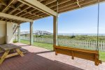 Patio Offers Picnic Table, Swing & Gulf Views