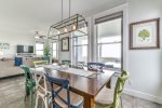 Dining Table with Eclectic Beachy Decor Seats Up to 8