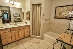 Ensuite bath on main with king bedroom and private balcony