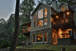 Three levels of luxury cabin living in the Coosawattee River Resort