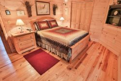 Beautifully appointed master bedroom and large closet