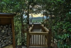 Gate to hot tub and amazing views continue