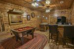 Gameroom with Bumper Pool Table, Casino-like Game Table, Foosball, and Arcade Console