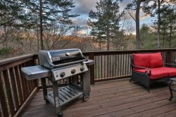 Gas grill on main deck