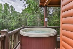 Hot tub to soak your cares away.