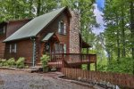True dove-tail log cabin.