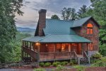 Southern Living custom cabin with stunning views outside of Ellijay, Georgia.