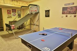 Arcade basketball and mutli game table.