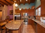 Gourmet kitchen with granite counter-tops and stainless steal appliances