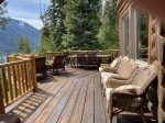 Beautiful tri level log home with a view of Wallowa Lake.
