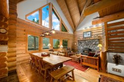 Beautiful 3 story log home with a view of Wallowa Lake.
