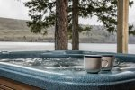 Enjoy your time spent on the dock or in the hot tub while overlooking Wallowa Lake.