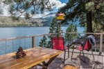 Sweet knotty pine cabin with private boat dock and deck overlooking Wallowa Lake.