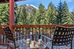 Beautiful view of the Wallowa Mountains from the Forest Dell Cabin.