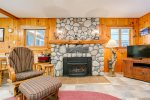 Enjoy 165 feet of prime Wallowa River frontage when you stay at the Moccasin Lake cabin!