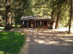 Cozy and charming vintage style cabin with knotty pine interior--Comfortable little cabin in the woods!