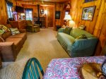 Lots of available seating at the Backcountry Cottage