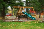 Swingset for the kids at the Rosebud Cottage.