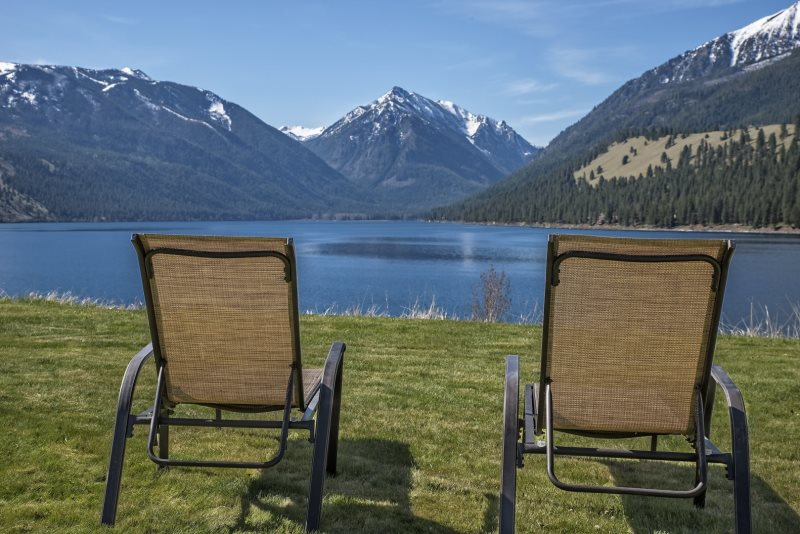 The View | Wallowa Lake view home | Vacation Rental Mountain ... Narrow Hall With Lake View House Plan on narrow lot floor plans, narrow lakefront house plans, narrow houses floor plans, narrow lot cottage house plans,