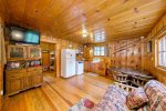Knotty pine interior throughout.