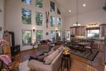 A custom built home with beautiful views thru those awesome windows