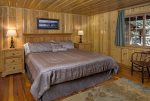 One of the king sized bedrooms of the West Fork Retreat.