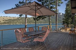 The beautiful Lake House is located on Wallowa Lake with a private boat dock for your use! Lake House #52
