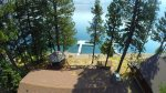 The drone`s view of the Timeout and boat dock.