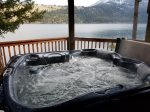 A great view from the hot tub when you stay at the Time Out.