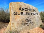 Archie Gubler Park is located behind Paradise Village