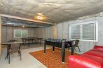 Recreation area and lounge in basement