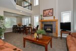 Each home has large open family rooms with high vaulted ceilings