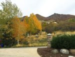 View of Big Cottonwood Canyon from front of house