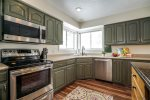 Supersized kitchen with ample space