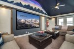 Ultra Lux Theater Room with 110in 4K Ultra HD Projector and 7.1 Theatre Surround Sound