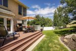 Gorgeous mountain-side backyard with patio deck and gas BBQ