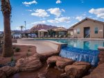 Best swimming pool in southern Utah waterslide, waterfall, kiddie pool, and large hot tub