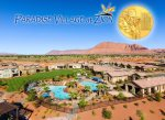 Fantastic 2-tier resort pool with a rock grotto, wading pool, and water slide