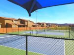 6 pickleball courts at Gubler Park, just a 5 minute walk from this home
