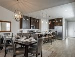 High-end kitchen with stainless steel appliances and granite counters