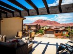 Beautiful private balcony with stunning panoramic views of Snow Canyon