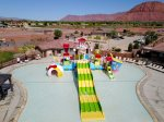 Lower pool with waterslide kids love