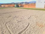 Sand volleyball court - tag your photos with UBVR in the sand