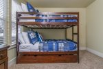Bunk room Upstairs: Full over Full with Twin Trundle