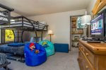 Tons of fun await in this bunkroom