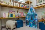 Hideaway corner featuring Elsa`s Enchanted Ice Castle, Disney Figurines, Plush toys, Books and Games