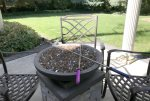 Gas fire-pit with roasting sticks