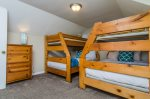 Bedroom 3, with 2 twin over full bunk beds on 2nd floor