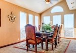 Private formal dining area for 6 with gorgeous views