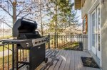 Private deck with a BBQ